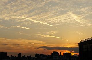 20121122夕焼けと富士山