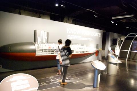 3階展示 潜水艦