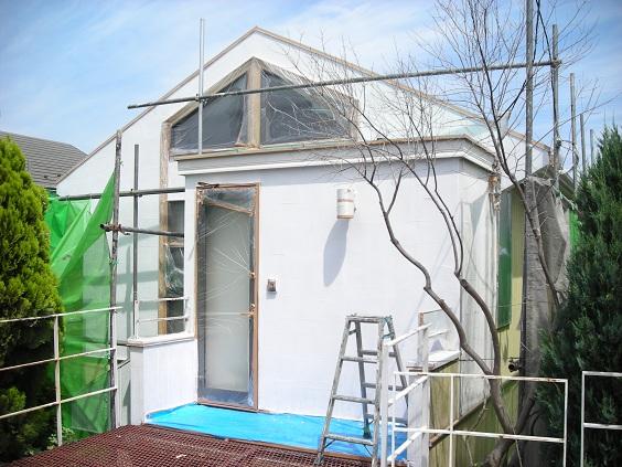 みらい住建 リフォーム外壁塗装(施工中)