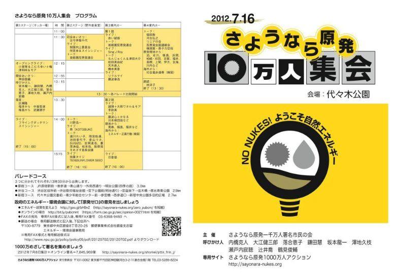 2012/7.16さよなら原発10万人集会