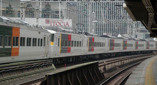 宮オオ185系「OM 06」+「C5」編成(2014年1月25日・有楽町駅)2