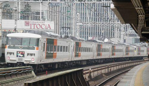 宮オオ185系「OM 06」+「C5」編成(2014年1月25日・有楽町駅)3