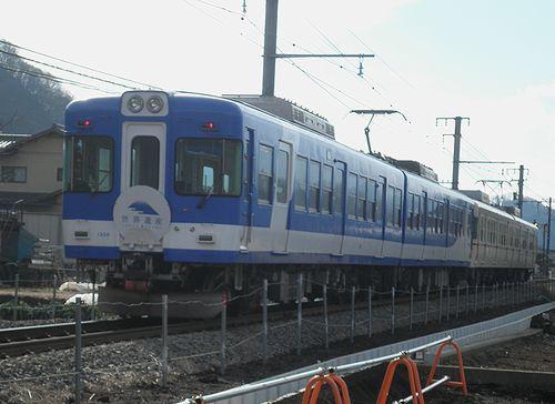富士急行1000・1200形、1001+1206編成(2014年1月26日・禾生~赤坂間)2