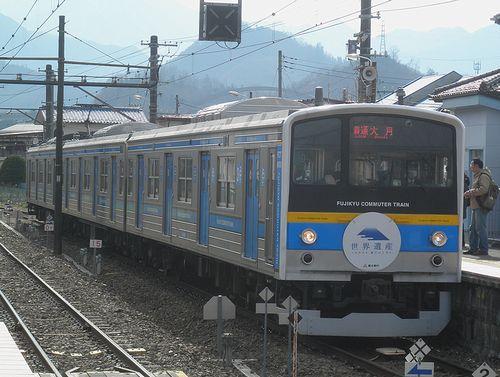 富士急行6000系6002編成(2014年1月26日・田野倉駅)