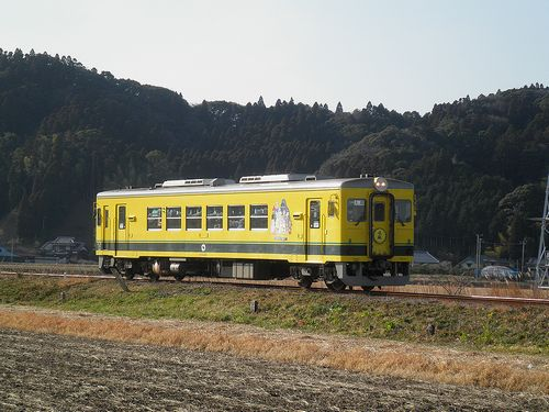 いすみ鉄道・いすみ351(2014年2月7日・西大原~上総東間)