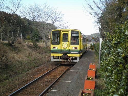 いすみ鉄道・いすみ202(2014年2月7日・小谷松駅)