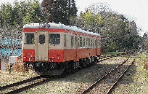 いすみ鉄道キハ52 125(2014年2月7日・国吉駅)2