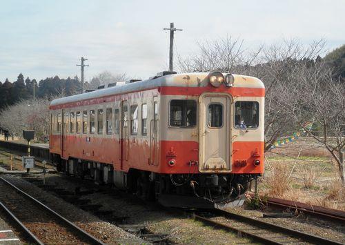 いすみ鉄道キハ52 125(2014年2月7日・国吉駅)1
