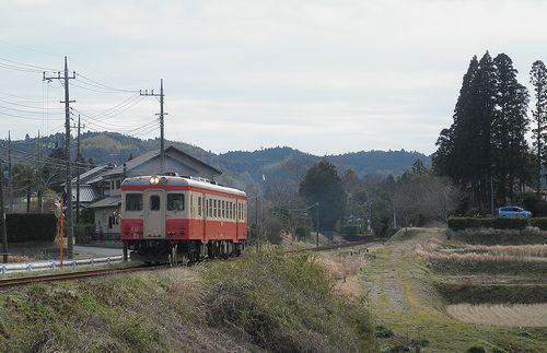 いすみ鉄道キハ52 125(2014年2月7日・大多喜~小谷松間)1