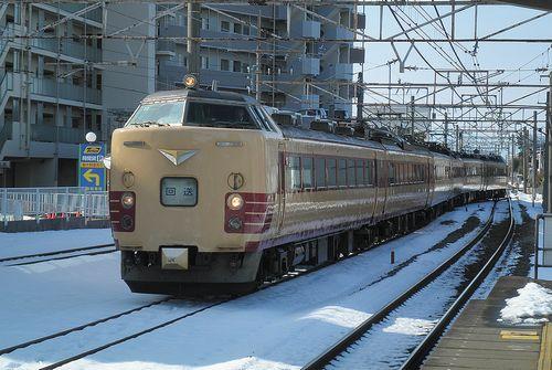新ニイ485系「T18」編成(2014年2月10日・本庄駅)1