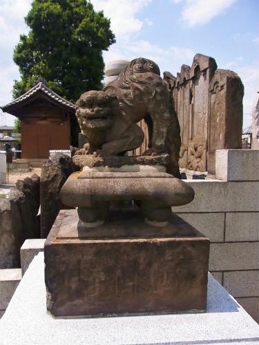法要寺の狛犬