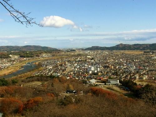 船岡城からの眺め