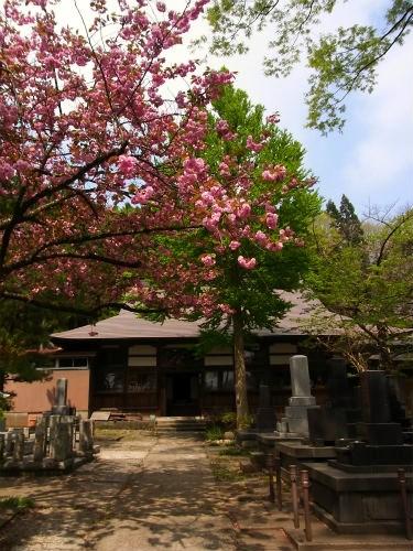 義重の墓がある寺の本堂
