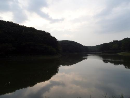 夕暮れの八丁湖 (1200x900)