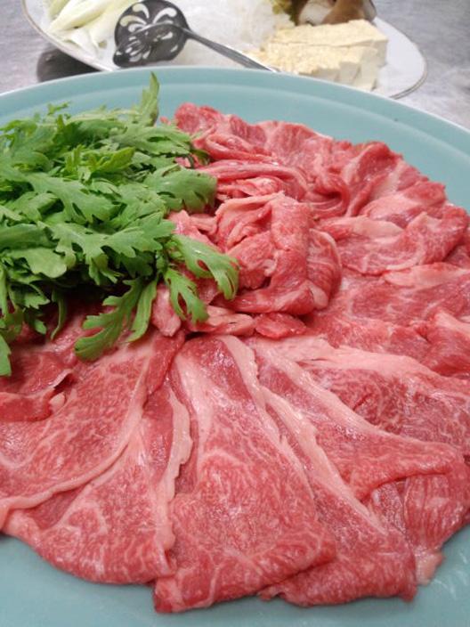 越後村上牛すき焼き 食べる