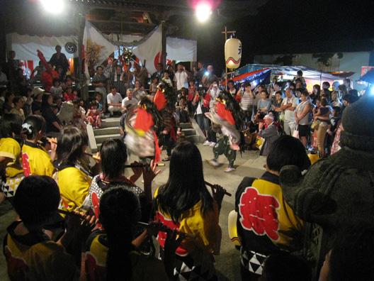 2012坂町祭り 伝統芸能 獅子踊り