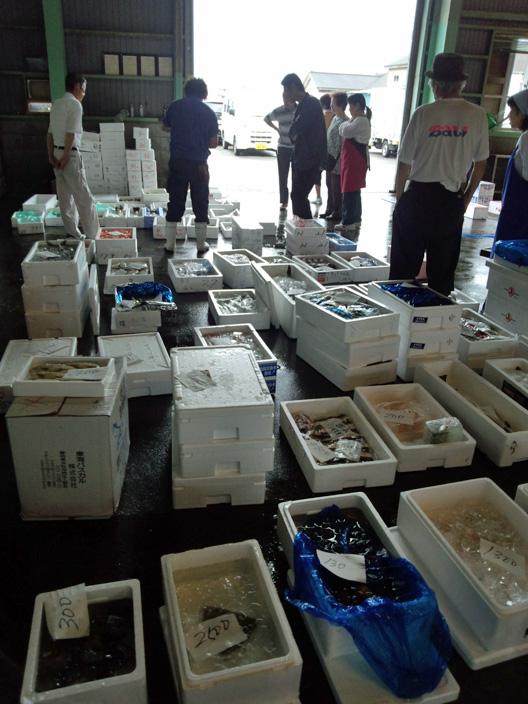 毎日の日課 仕入れ 魚市場