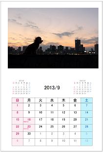 カレンダー形式9