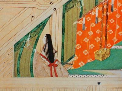 この絵、部屋の調度品以外はほとんど木肌の色が占め、一見未完成の絵かと思うくらい。