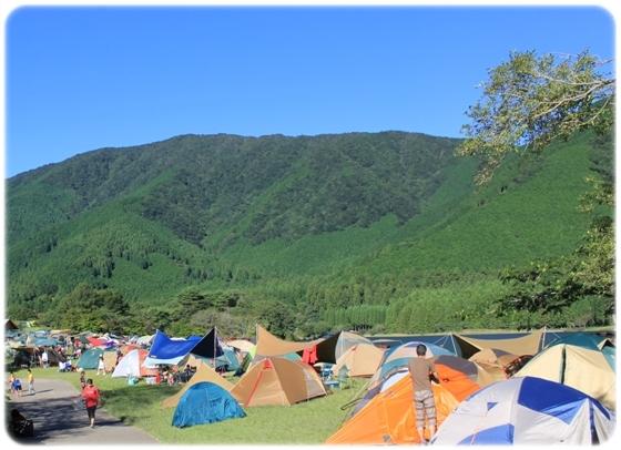 テントいっぱい