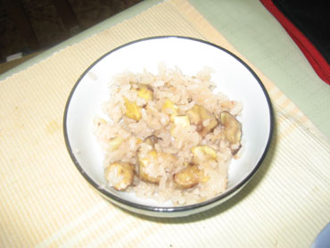 栗飯-お茶碗