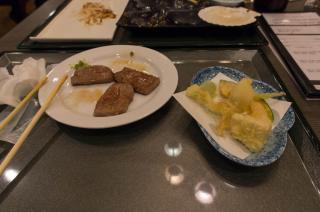 焼き肉に天ぷら・・・うまうまっ!