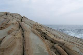 なかなか見たことのない岩肌