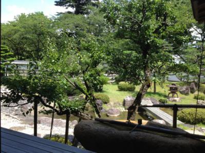 2012 07 17 彦根城 博物館 木造屋敷から中庭