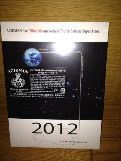 2012 10 08 DVD ACIDMAN LIVE 15th10th Anniversary Tour