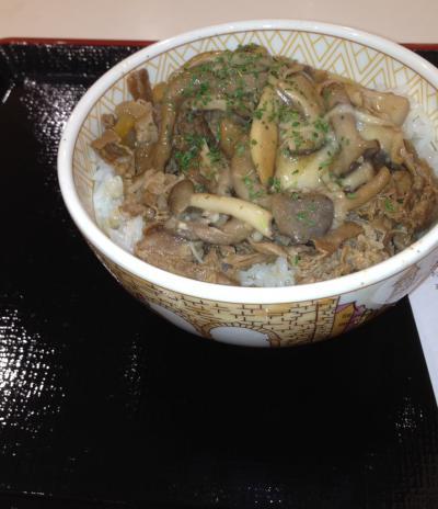 2012 11 22 3種のきのこ牛丼