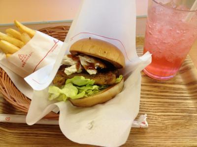 2013 02 25 マスタードチキンバーガー 根菜サラダ&黒酢ソース仕立て