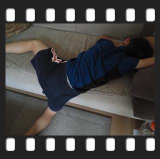ソファーで2度寝