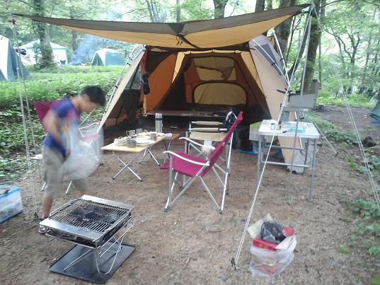 平湯キャンプ場サイト