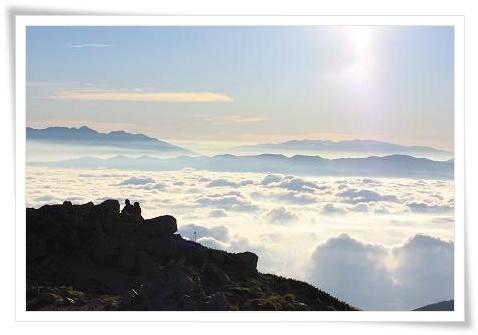 駒ヶ岳山頂 雲海