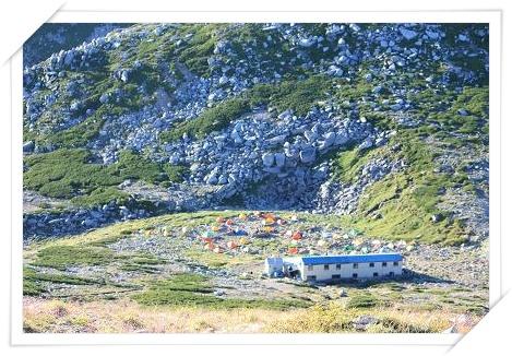 駒ヶ岳山頂からのテン場