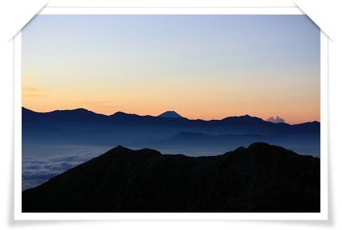 駒ヶ岳山頂からの富士山