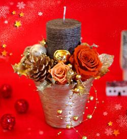 2012クリスマスレッスン キャンドルアレンジs