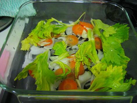 塩鮭と野菜蒸し
