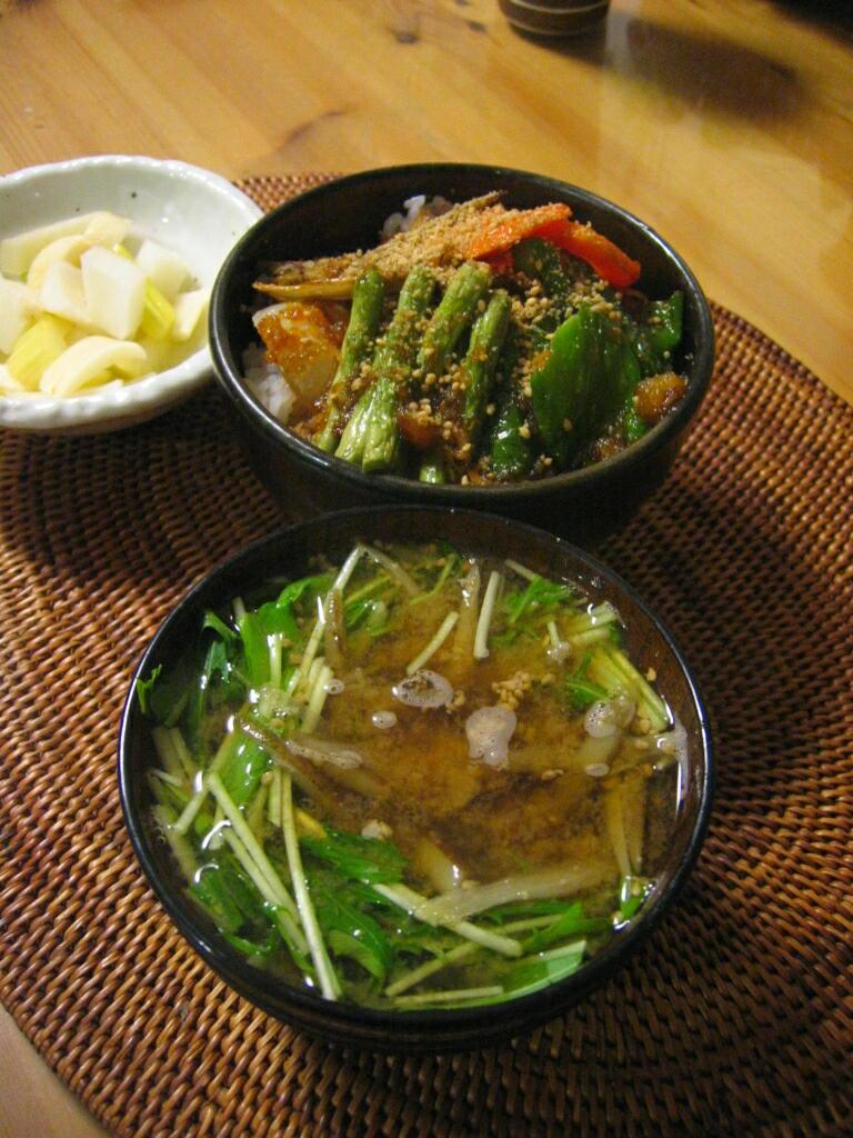 揚げ野菜丼