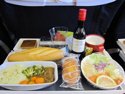 AF291 機内食(ランチ・洋食)