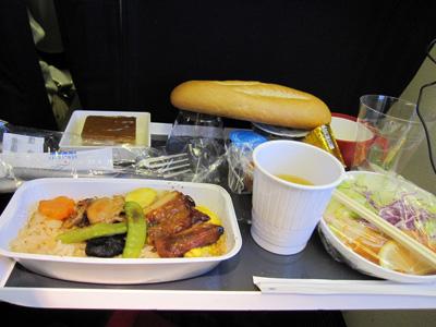 AF291 機内食(ランチ・和食)