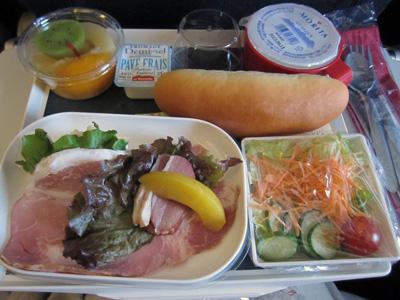 AF291 機内食(ディナー)
