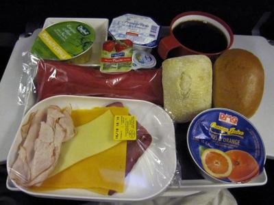 AF292機内食(朝食)