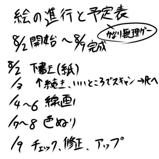 8月9日完成予定図