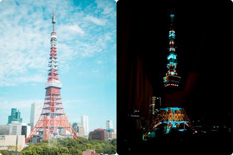 パークタワー東京の東京タワー
