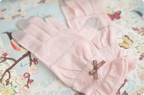 ルナルーヴァ スマホ対応おやすみ手袋