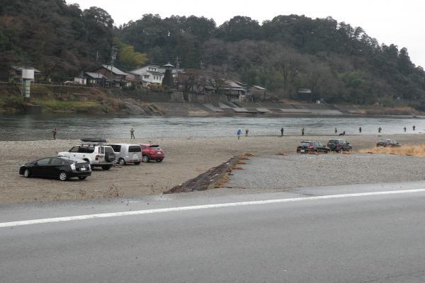 2月2日の美濃橋下流