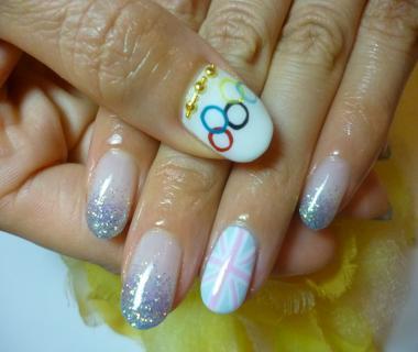 五輪オリンピックユニオンジャックネイル