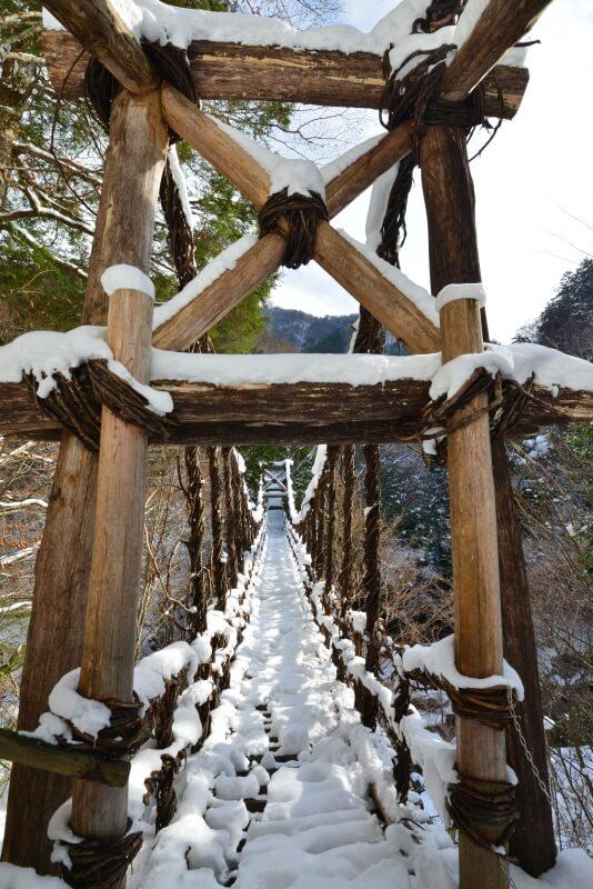 奥祖谷二重かずら橋1 (徳島県東祖谷)