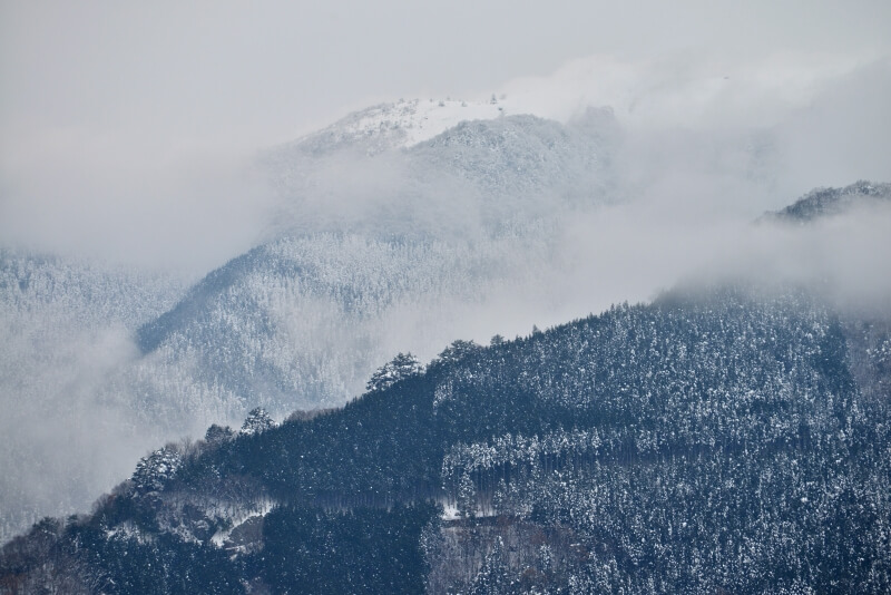 冠雪の祖谷 (徳島県東祖谷)